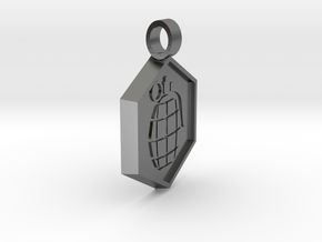 Bomb [pendant] in Polished Silver