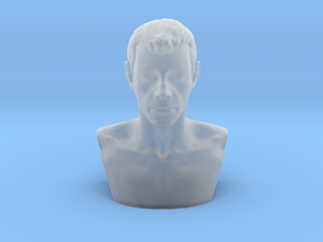 Head Miniature in Smooth Fine Detail Plastic