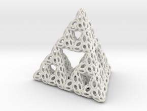 Serpinksy tetraedron 2 in Polished Bronze Steel