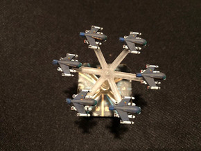 Omni Scale Klingon Z-Y Fighters WEM in Smooth Fine Detail Plastic