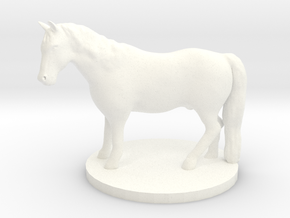 War Pony Miniature in White Processed Versatile Plastic