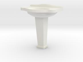 Miniature Galassia Ethos Washbasin - Galassia in White Natural Versatile Plastic: 1:12