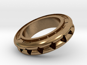 Ring X4 in Natural Brass: Small