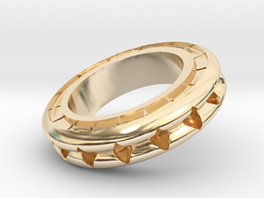 Ring X4 in 14k Gold Plated Brass: Small