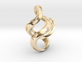Ring X5 in 14k Gold Plated Brass: Small
