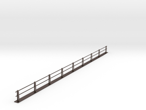 PRR HANDRAIL HO SCALE Ultra Frosted  in Polished Bronzed Silver Steel