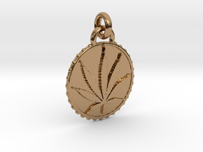 CANNA-pendant in Interlocking Polished Brass