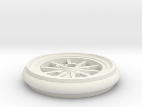 Hubley Vintage Model Car Wheel - 1:20 in White Natural Versatile Plastic
