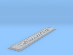 Nameplate: USS Missouri BB-63 in Smoothest Fine Detail Plastic