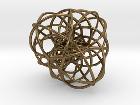 Elliptic Clebsch Cubic in Polished Bronze Steel