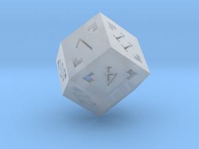Rhombic 12 Sided Die - Regular in Smooth Fine Detail Plastic
