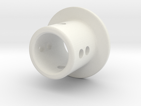 TC Adjustable Body Mount (6mm) in White Premium Strong & Flexible