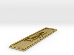 Nameplate: Tirpitz in Natural Brass