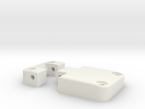 Functional door hinge left D90 D110 TRC 1/4 in White Natural Versatile Plastic