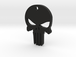 PUNISHER KEY CHAIN in Black Natural Versatile Plastic