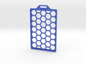 Lightweight ID Badge Holder in Blue Processed Versatile Plastic