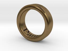 Panta Rhei Ring  in Natural Bronze