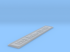 Nameplate USS Balao SS-285 in Smoothest Fine Detail Plastic