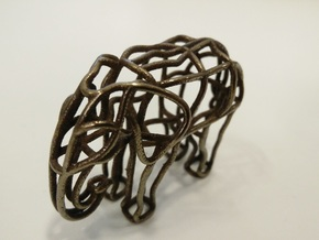 Elephant1 in Polished Bronze Steel