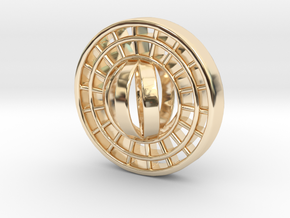Ring X15 in 14k Gold Plated Brass: Small