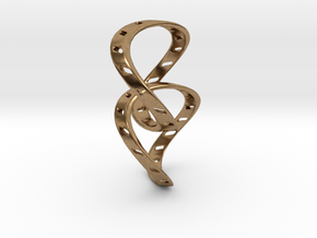 Ring X14 in Natural Brass (Interlocking Parts): Small