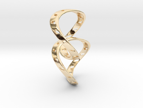 Ring X14 in 14k Gold Plated Brass: Small