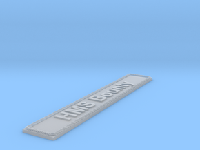 Nameplate HMS Bounty in Smoothest Fine Detail Plastic