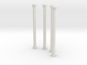 HORelRu03 - Great ruin of Gothic church in White Natural Versatile Plastic