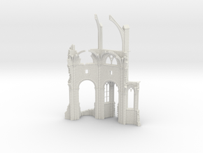 HORelRu02 - Great ruin of Gothic church in White Natural Versatile Plastic