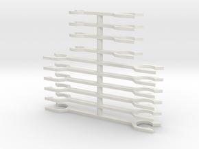 N Scale Fleischmann TEE Coupler Bars in White Natural Versatile Plastic