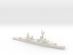 Gearing-class destroyer (FRAM 1B), 1/1800 in White Natural Versatile Plastic
