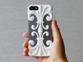 iPhone SE/5/5s DIY Case - Floria in White Strong & Flexible Polished