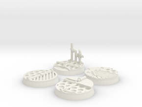 Sci-fi 25mm bases in White Natural Versatile Plastic