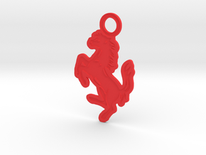 Prancing Horse Keyring in Red Strong & Flexible Polished