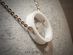 Loop ::: Circle Pendant ::: v.01 in White Processed Versatile Plastic