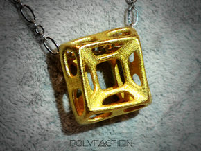 Nest ::: Square Pendant ::: v.01 in Polished Gold Steel