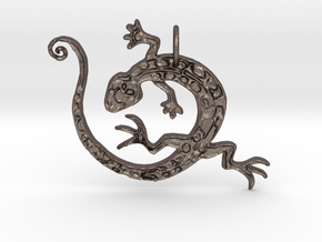 Lizard Dance in Polished Bronzed Silver Steel