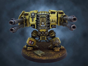 Dreadnought Autocannon arms, 28mm v1.3 in White Natural Versatile Plastic