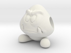Koopa Goomba in White Natural Versatile Plastic