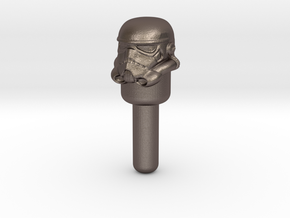 Star Wars Stormtrooper Peg in Polished Bronzed Silver Steel