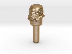 Star Wars Stormtrooper Peg in Polished Gold Steel