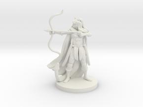 Tiefling  Female  Ranger in White Natural Versatile Plastic