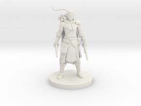 Elf Male Two Sword Ranger in White Natural Versatile Plastic