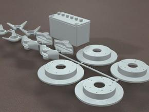 TDR 427 Roadster Brake and Battery Kit in White Natural Versatile Plastic