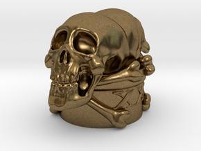 Poison Skulls Bottlestop in Natural Bronze