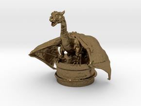 Fantasy Dragon Bottlestopper in Natural Bronze