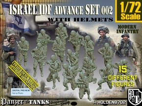 1/72 IDF Infantry Set002 in Smooth Fine Detail Plastic