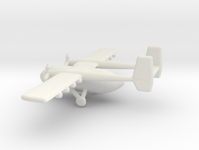 1/400 Scale IAI Arava Airplane in White Natural Versatile Plastic