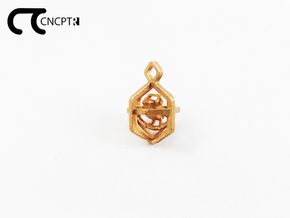 Concept R Caged Bird Charm in Natural Bronze