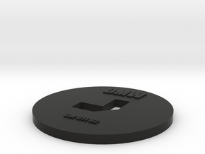 Clay Extruder Die: Cor_011_02 in Black Natural Versatile Plastic